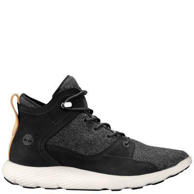 Timberland Men's FlyRoam NXTWool™ Chukka Boots Black Nubuck/Wool