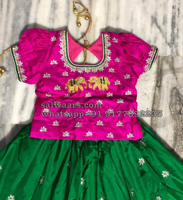 Elephant Design Pretty Kids Lehenga Kids Frocks Design Kids Dress Patterns Kids Blouse Designs