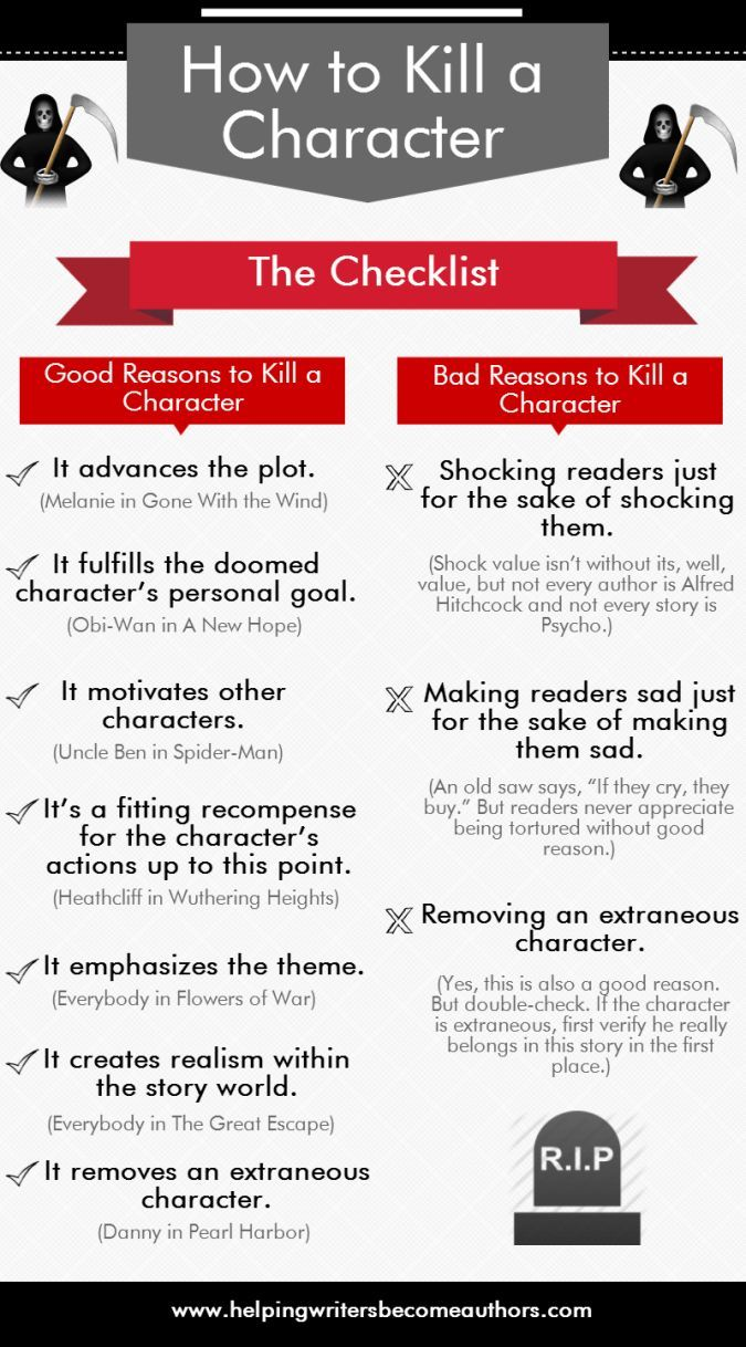 How to Successfully Kill a Character: The Checklist - Helping