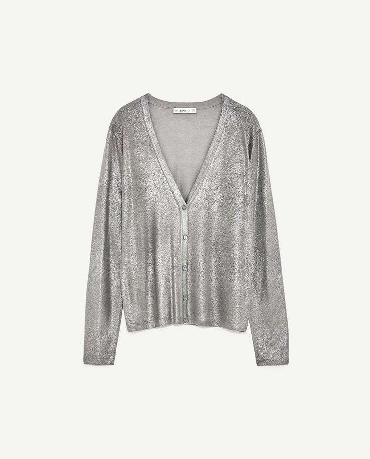 Image 8 of SHIMMERY CARDIGAN from Zara