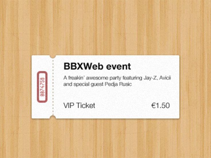 72 best Tickets images on Pinterest User interface, App ui and - event tickets template