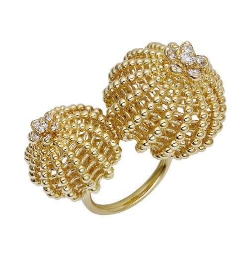 Bague Cactus de Cartier en or jaune et 12 diamants