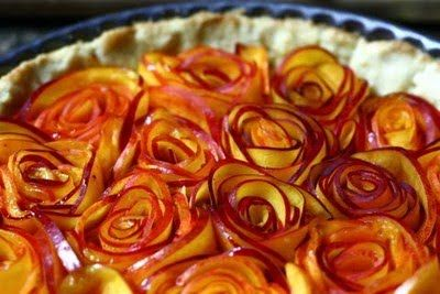 Baked apple roses.