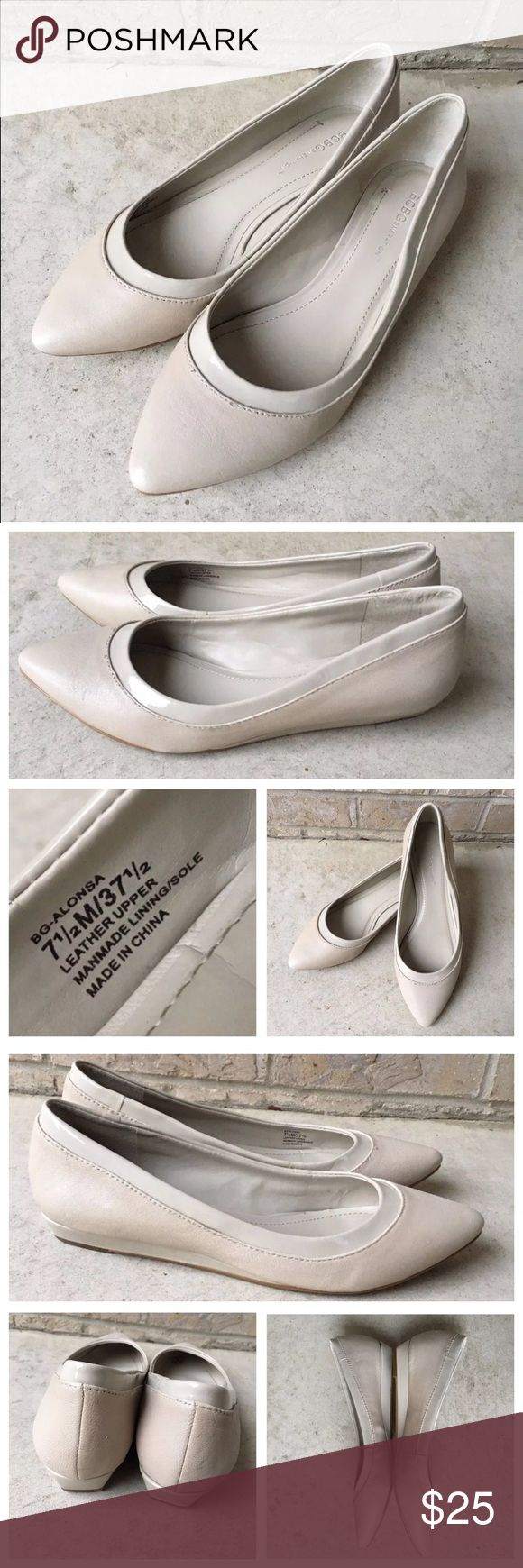 BCBG Generation Alonsa Beige Pointed Toe Shoes 7.5 BCBG Generation Alonsa Beige Pointed Toe Shoes  Women's Size 7.5 M Gently used, worn only a few times.  Some minor signs of normal wear - see pictures for details. BCBGeneration Shoes Flats & Loafers