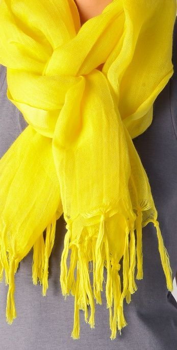 YELLOW scarf. #classwithcolor