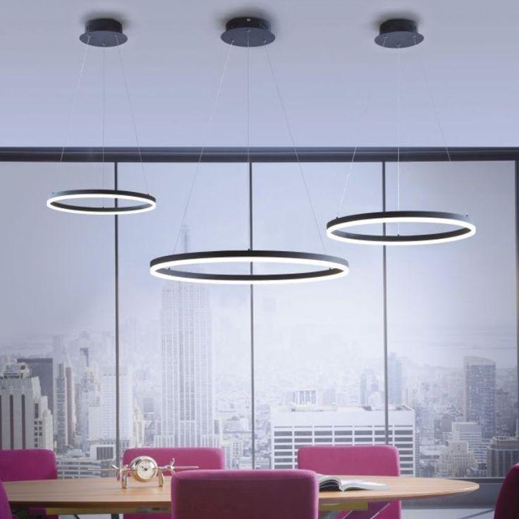Ring M LED Hängeleuchte Dimmbar über Schalter Ø 60 Cm / Anthrazit