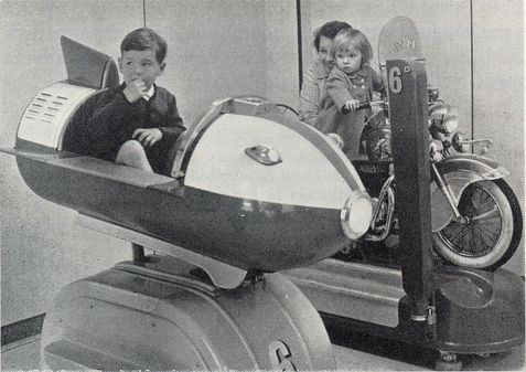 Space Rocket kiddy ride at Woolworth's