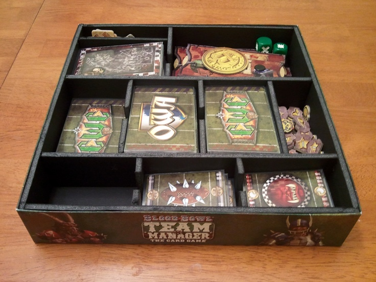 Blood bowl team manager storage solution photo board for Board game storage solutions