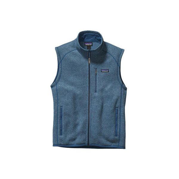 Men's Patagonia Better Sweater Vest - Catalyst Blue Sweater Vests ($99) ❤ liked on Polyvore featuring men's fashion, men's clothing, men's outerwear, men's vests, mens sleeveless vest, mens blue vest, mens vest, patagonia mens vest and mens sweater vest