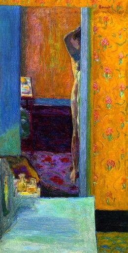 Pierre Bonnard, Nu dans un intérieur, c. 1935, oil on canvas, 134 x 69.2 cm (52 3/4 x 27 1/4 in.) Lijnperspectief