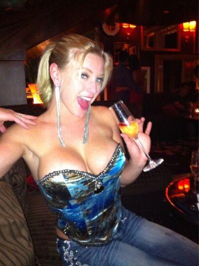 Big boobs bartender