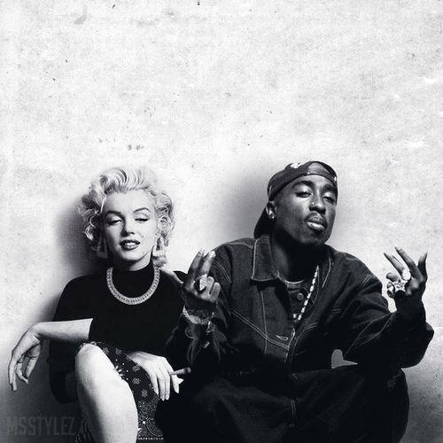 Tupac && monroe this is beautiful