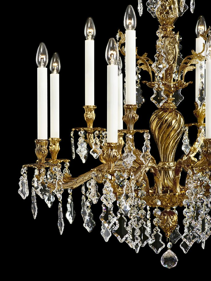 Louis. Named after King Louis XV, this metal-arm piece puts on an enchanting display of its crystal trimmings, making it the jewel of any room and radiating atmosphere of luxury, affluence and good taste at exclusive events such as the wedding of King Louis XV's daughter to King Philip V of Spain at Versailles. Centuries later, it still possesses the same contemporary appeal. #design #crystal #lighting #chandelier #bohemiancrystal #interior #brilliance #craftsmanship #preciosalighting…