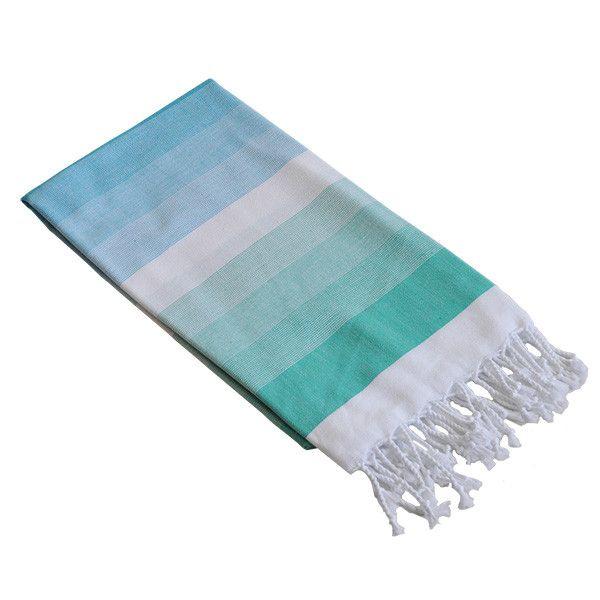 Byron Mint & Aqua Cotton Turkish Towel