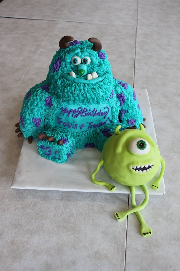 Monsters Inc. Sulley and Mike Wazowski Cake