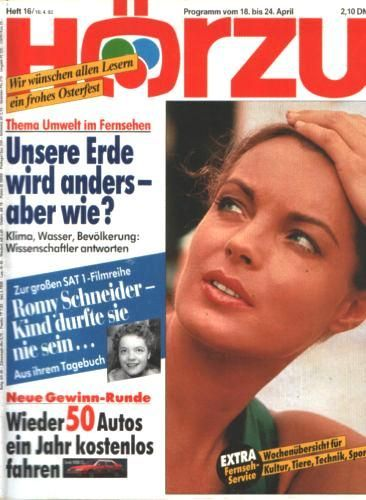 Romy Schneider - Hörzu Magazine [Germany] (April 1992)