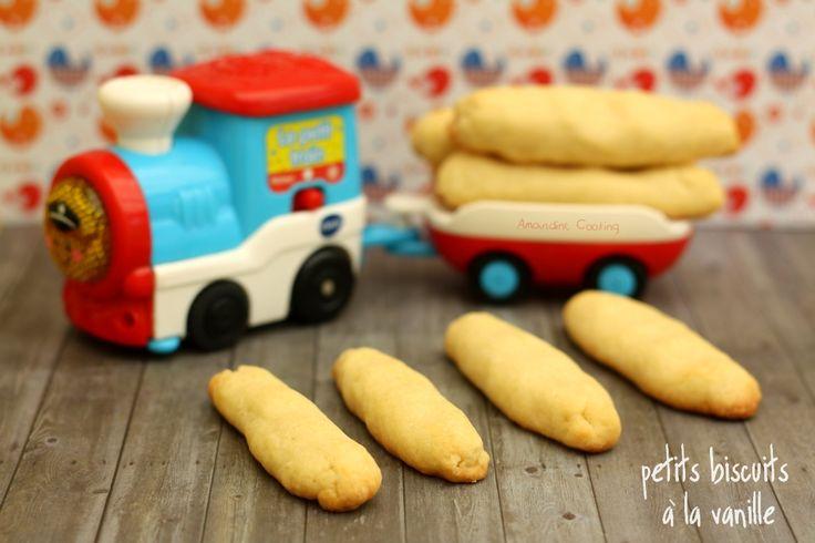 Mon premier petit biscuit à la vanille. Une recette pour le goûter de bébé! #bébé #diversification #recettebébé