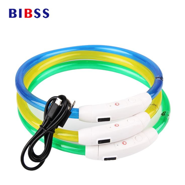USB Charging LED Adjustable Flashing Luminous Dog Collar //Price: $9.95 & FREE Shipping //     #doglovers