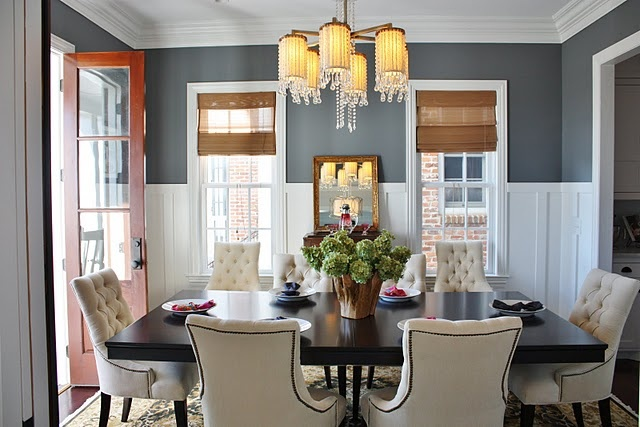 Wall color for dining room a little darker than other Beautiful paint colors for dining rooms