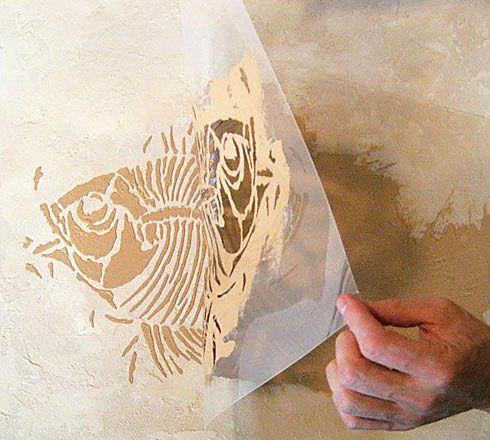 Prehistoric Large Fish Fossil Stencil  See more Fossil stencils: http://www.cuttingedgestencils.com/fossil-stencils-fossils-wall-stencils.html