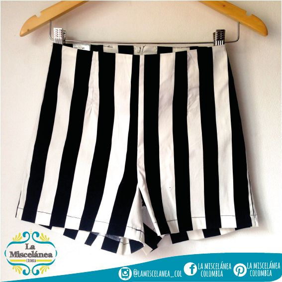 high waisted striped shorts! Short Talle Alto de Rayas! high waisted striped shorts
