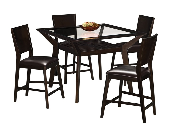Dining Room Furniture   Mystic Counter Height Table And 4 Chairs   Merlot  And Chocolate Part 89