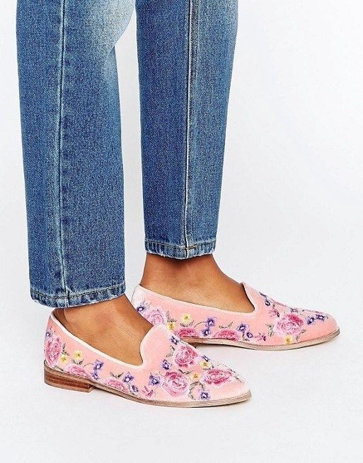 """These embroidered flats for when you're taking a stroll through the garden. 