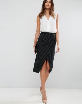 ASOS Pin Stripe Pencil Skirt