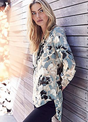 Printed Floral Tunic #kaleidoscope #summer #fashion