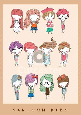illustration cute kids cartoon children - Cartoon Kids Drawing