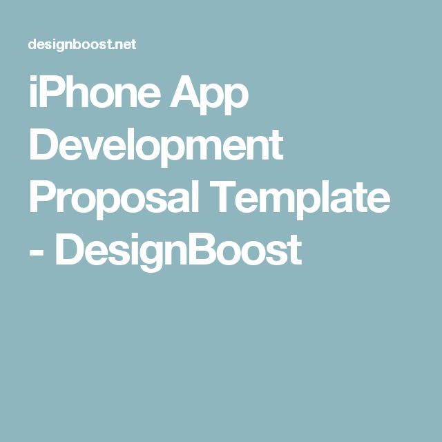 Iphone App Development Proposal Template Designboost App
