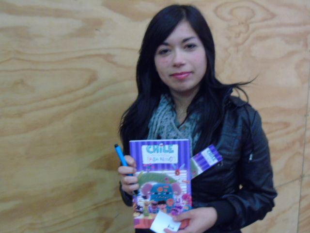 Alumna ganadora del libro Chile en viñetas para niños.