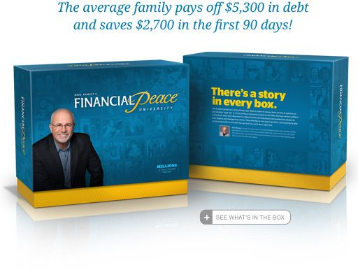 Financial Peace University - Dave Ramsey - There's a Story in Every Box.