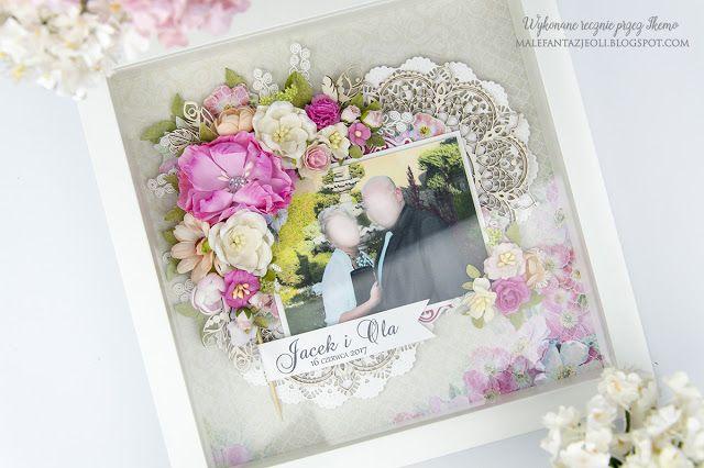 Male fantazje Oli: DT Craft Passion - Ramka dla nowożeńcow / Wedding frame