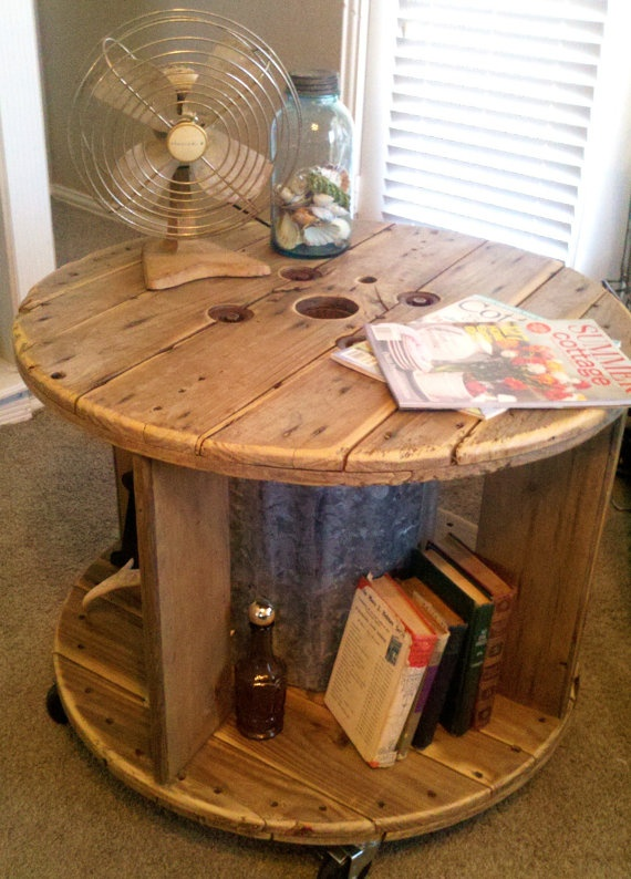 Spool. Make a cool patio table!