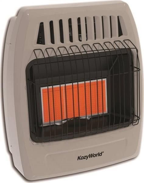 Kozy World KWP392 Vent Free PROPANE GAS HEATER Infrared 18,000 BTU Radiant - NEW #KozyWorld