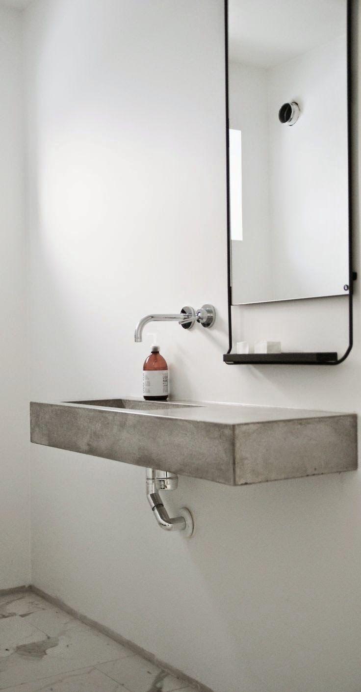 Encimera y lavabo microcemento