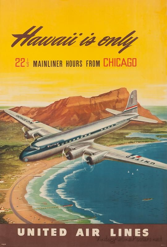 Chicago to Hawaii. I remember these lonnng trips. We thought it was an improvement when it was reduced to 17 hours.