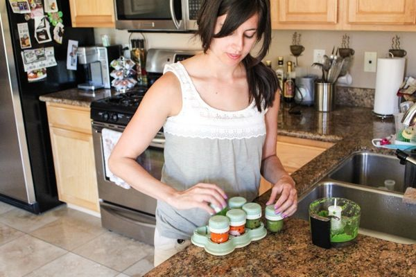 Make homemade baby food for the whole month in just one hour. Here's my step-by-step process and recipes for making healthy homemade baby food for one whole month for less than $20.