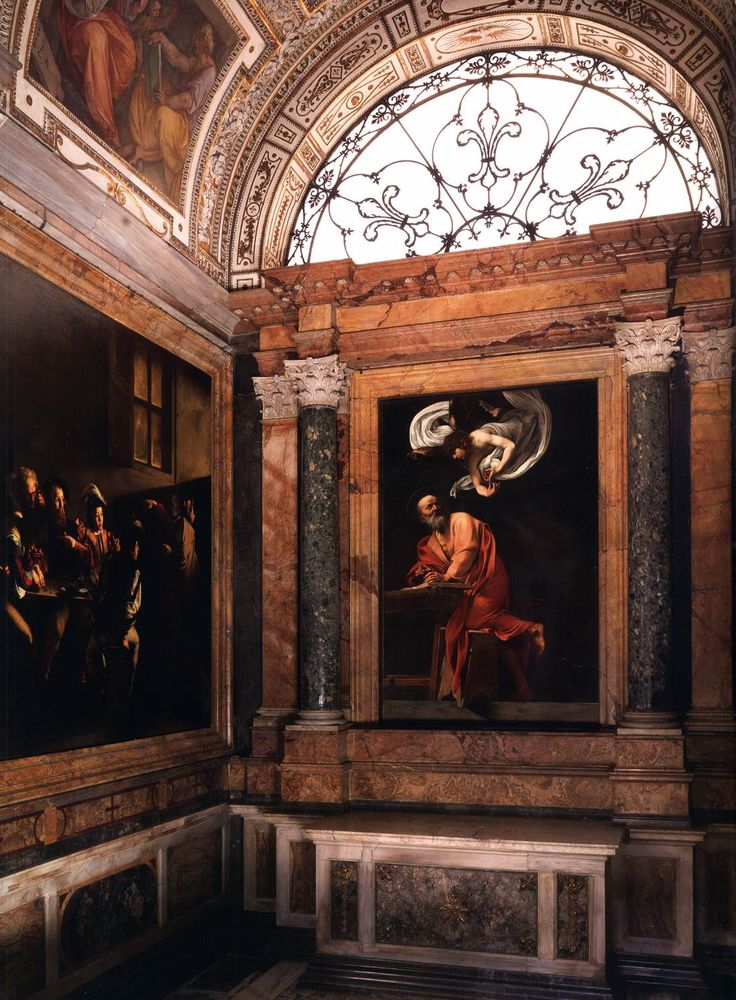 Caravaggio, The Calling of St Matthew, Contarelli Chapel, Church of San Luigi…