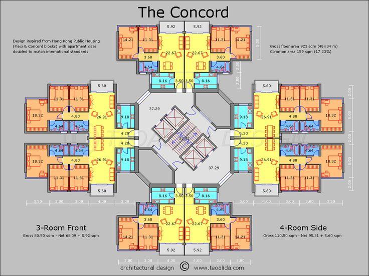 Apartment Building Floor Plans Designs 75 best plans images on pinterest | floor plans, architecture plan