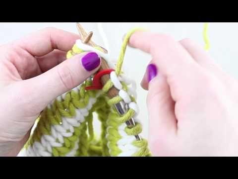 Simple Stylish Stricken - Tutorial: Strickkurs Technik 35: Farbstreifen in Runden - YouTube