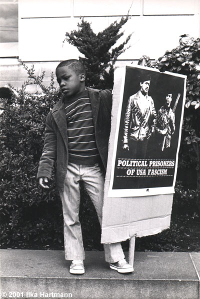 Child at Black Panther Rally (Political Prisoners Of USA Facism) 1970.