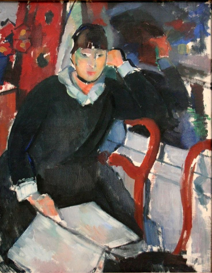 Seated Woman at the Window (1915). Rik Wouters (Belgian, 1882–1916). Oil on canvas. Museum of Fine Arts, Ghent. Alternative title is Portrait of Nel Deurinckx, the Artist's Wife. In 1900 Wolters decided to move to the Belgian capital where he became a pupil of Charles Van der Stappen at the Academie des Beaux-Arts. There he met Hélène Duerinckx (Nel) who was to become his wife, favourite model and muse.