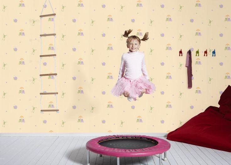 9356-32 Papírová tapeta na zeď Boys and Girls Žabičky a šneci 935632