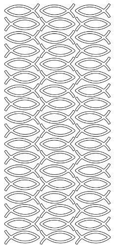"""Konturensticker """"Fische """"silber,bogen 10 x 23 cm Hobbyfun http://www.amazon.de/dp/B00I5I7RQE/ref=cm_sw_r_pi_dp_RNLBub1CF4001"""