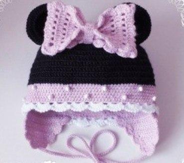шапка, для детей, схема, описание, с ушками, вязание крючком