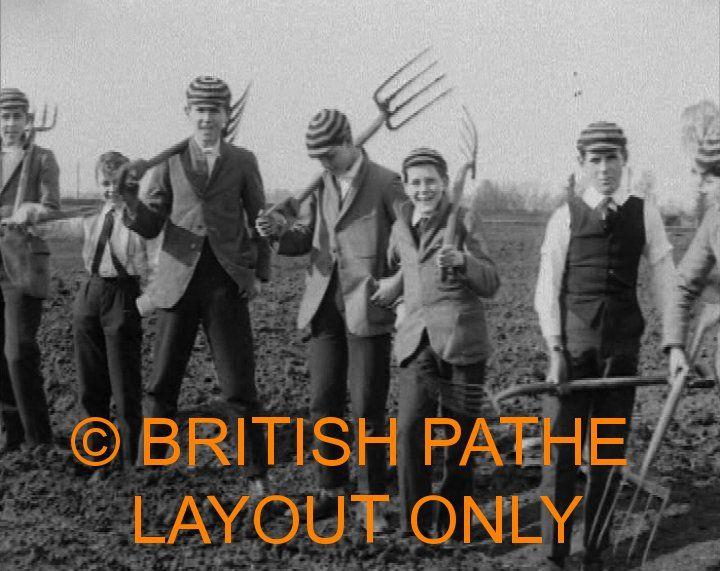Filmbeelden: Jongens van Eton College bewerken het land (GB 1918)