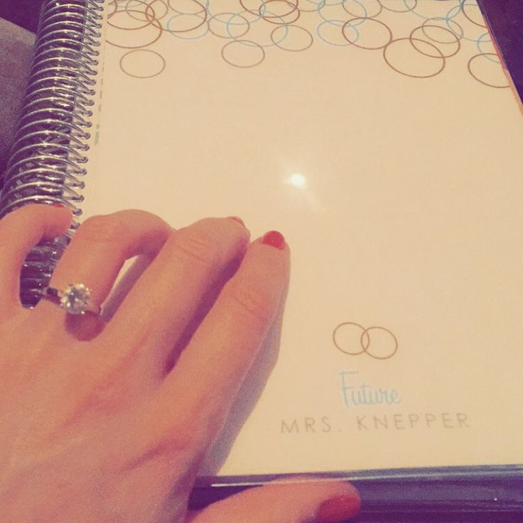 Best gift from my MOH. Personalized Erin Condren Wedding planner.