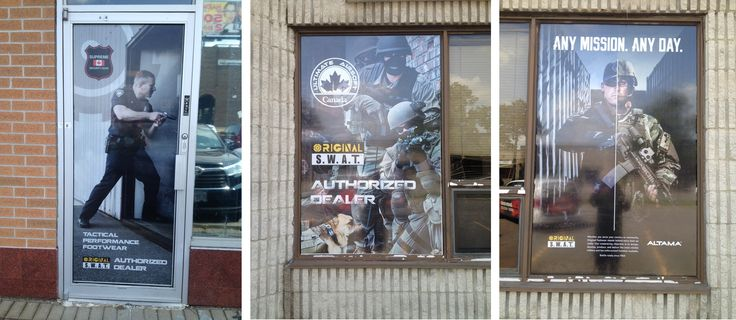 Check out these awesome window graphics we just finished up for Original Swat!  #Scarborough #Toronto #WindowGraphics #Marketing #Signage